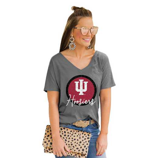 Indiana Hoosiers Long Live Weekend Vibes V-Neck Tee by Gameday Couture
