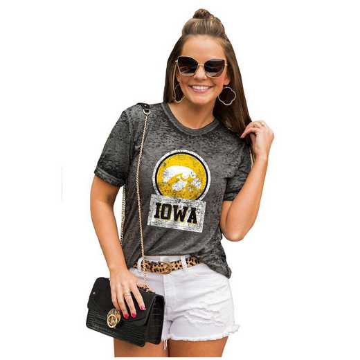 Iowa Hawkeyes Let The Good Vibes Roll Tee by Gameday Couture
