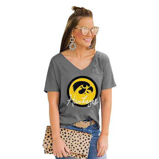 Iowa Hawkeyes Long Live Weekend Vibes V-Neck Tee by Gameday Couture