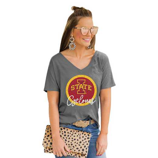 Iowa State Cyclones Long Live Weekend Vibes V-Neck Tee by Gameday Couture