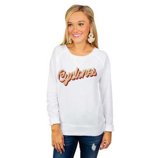 """Iowa State Cyclones """"Casually Cute"""" French Terry Pullover By Gameday Couture"""