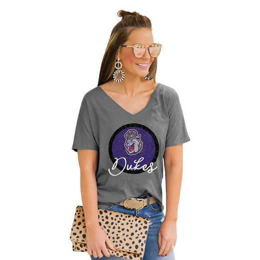 James Madison Dukes Long Live Weekend Vibes V-Neck Tee by Gameday Couture