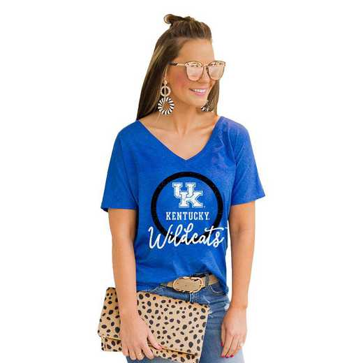 Kentucky Wildcats Long Live Weekend Vibes V-Neck Tee by Gameday Couture