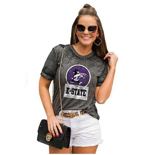 Kansas State Wildcats Let The Good Vibes Roll Tee by Gameday Couture