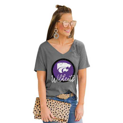 Kansas State Wildcats Long Live Weekend Vibes V-Neck Tee by Gameday Couture