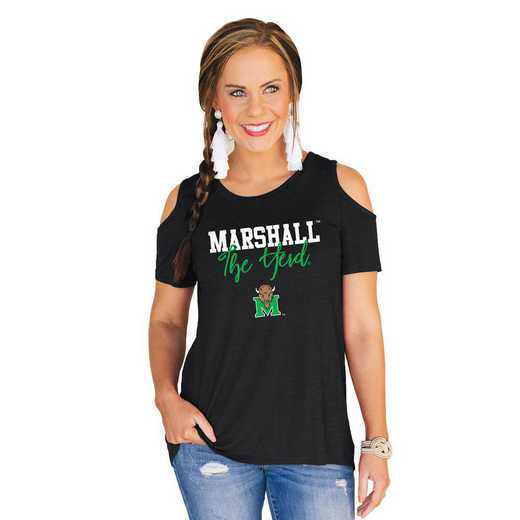Marshall Thundering Herd Forever a Fan Cold Shoulder Top by Gameday Couture