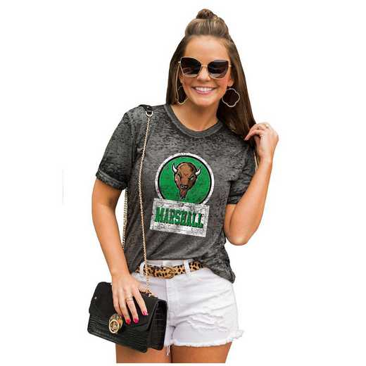 Marshall Thundering Herd Let The Good Vibes Roll Tee by Gameday Couture