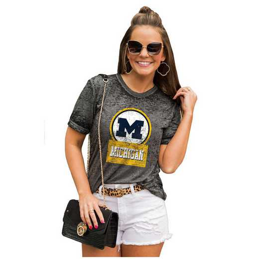 Michigan Wolverines Let The Good Vibes Roll Tee by Gameday Couture