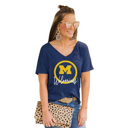 Michigan Wolverines Long Live Weekend Vibes V-Neck Tee by Gameday Couture