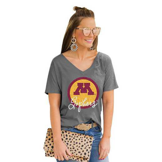 Minnesota Golden Gophers Long Live Weekend Vibes V-Neck Tee by Gameday Couture by Gameday Couture
