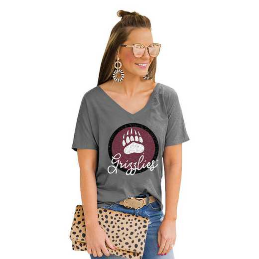 Montana Grizzlies Long Live Weekend Vibes V-Neck Tee by Gameday Couture