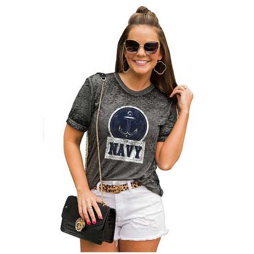 Navy Midshipmen Let The Good Vibes Roll Tee by Gameday Couture