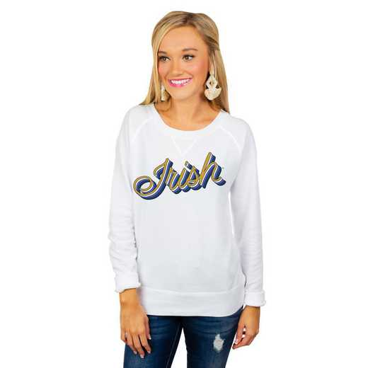 """Notre Dame Fighting Irish """"Casually Cute"""" French Terry Pullover By Gameday Couture"""