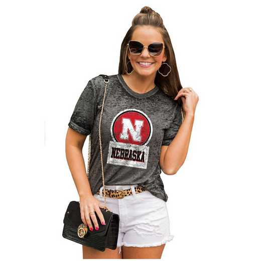 Nebraska Cornhuskers Let The Good Vibes Roll Tee by Gameday Couture