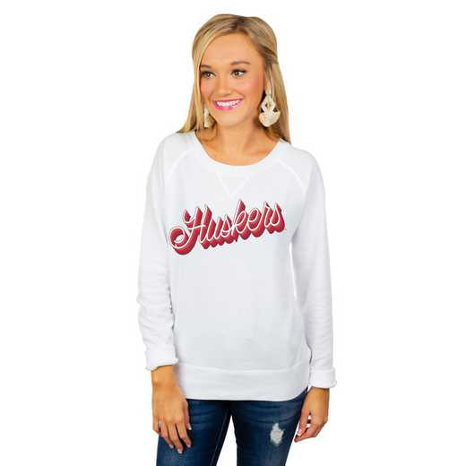 """Nebraska Cornhuskers """"Casually Cute"""" French Terry Pullover By Gameday Couture"""