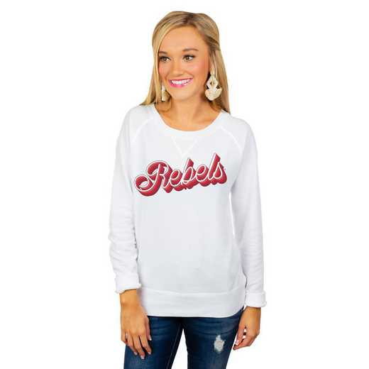 """Mississippi Ole Miss """"Casually Cute"""" French Terry Pullover By Gameday Couture"""