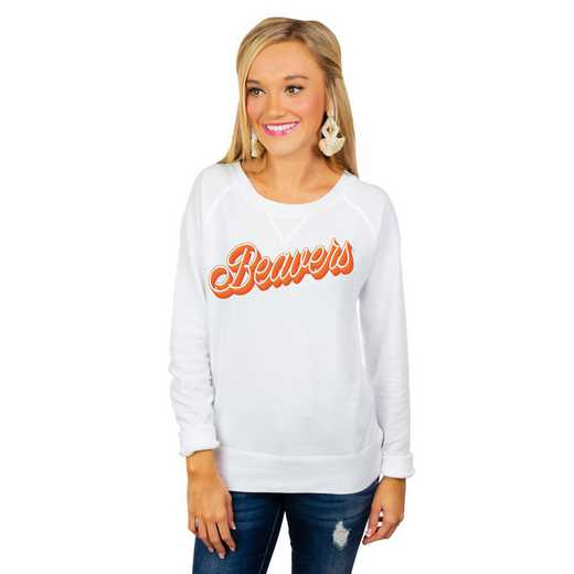 "Oregon State Beavers ""Casually Cute"" French Terry Pullover By Gameday Couture"