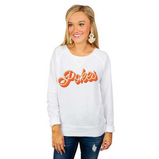 "Oklahoma State Cowboys ""Casually Cute"" French Terry Pullover By Gameday Couture"