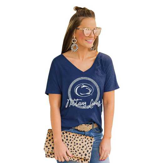 Penn State Nittany Lions Long Live Weekend Vibes V-Neck Tee by Gameday Couture