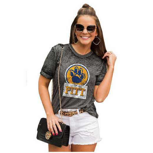 Pittsburgh Panthers Let The Good Vibes Roll Tee by Gameday Couture