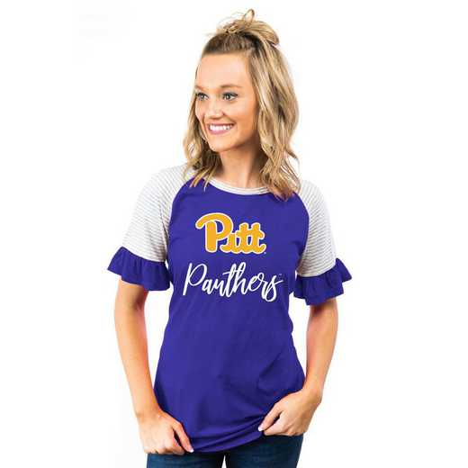 Pittsburgh Panthers Down The Line Ruffle Sleeve Top by Gameday Couture