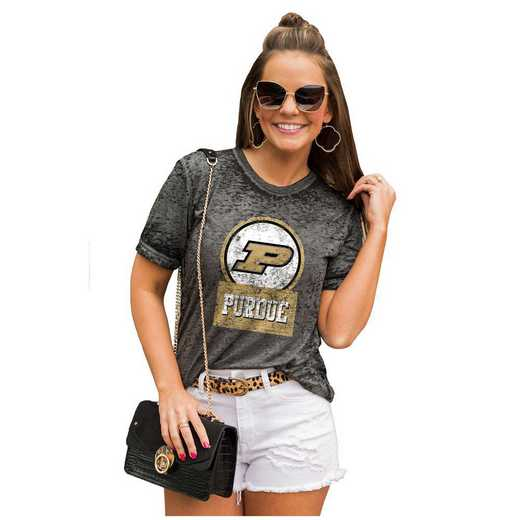 Purdue Boilermakers Let The Good Vibes Roll Tee by Gameday Couture