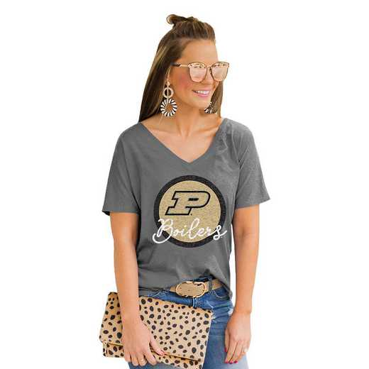 Purdue Boilermakers Long Live Weekend Vibes V-Neck Tee by Gameday Couture
