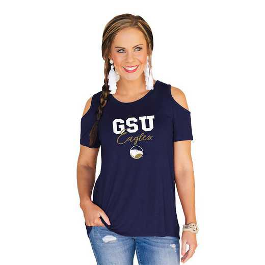Georgia Southern Eagles Forever a Fan Cold Shoulder Top by Gameday Couture