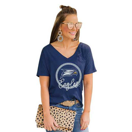 Georgia Southern Eagles Long Live Weekend Vibes V-Neck Tee by Gameday Couture