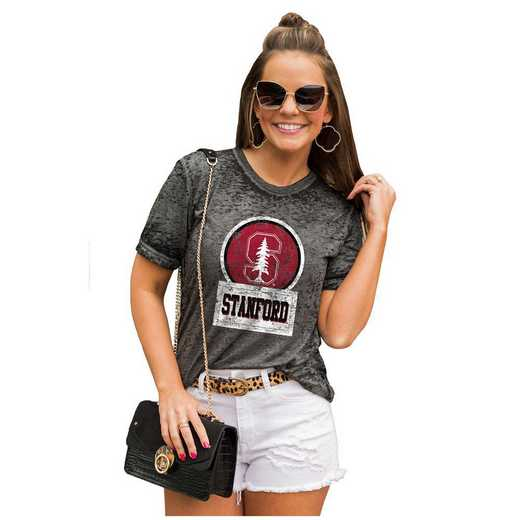 Stanford Cardinal Let The Good Vibes Roll Tee by Gameday Couture