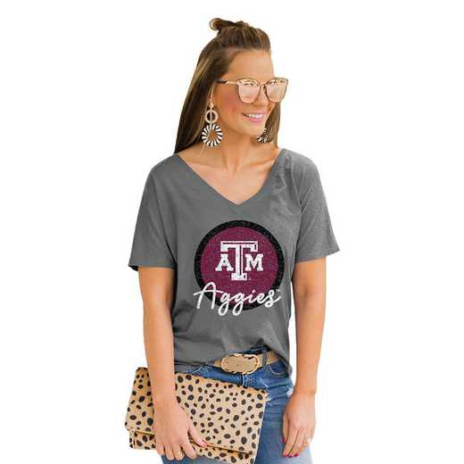 Texas A&M Aggies Long Live Weekend Vibes V-Neck Tee by Gameday Couture