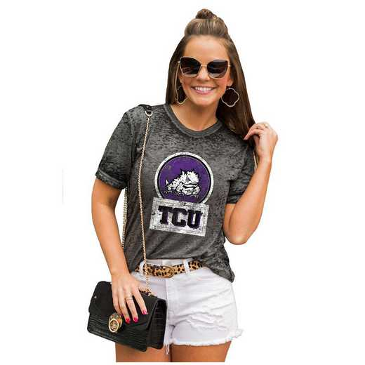 Texas Christian University Horned Frogs Let The Good Vibes Roll Tee by Gameday Couture