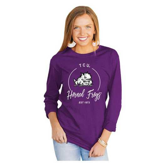 Texas Christian University Horned Frogs It's Gameday Y'all Varsity Crew Top by Gameday Couture