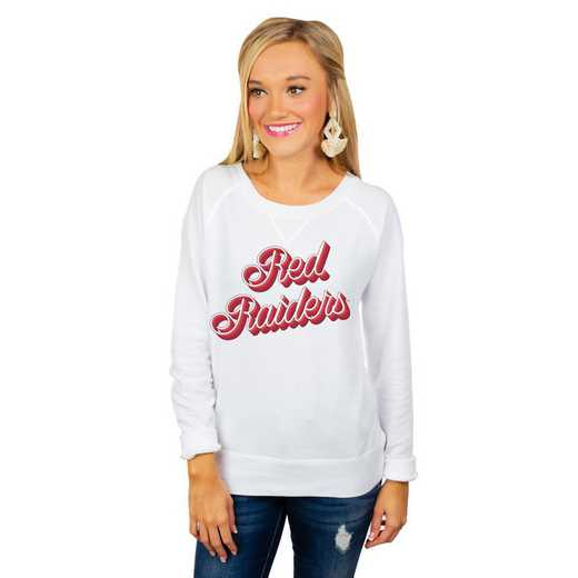 """Texas Tech Red Raiders """"Casually Cute"""" French Terry Pullover By Gameday Couture"""