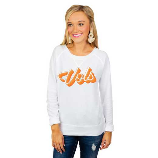 """Tennessee Vols """"Casually Cute"""" French Terry Pullover By Gameday Couture"""