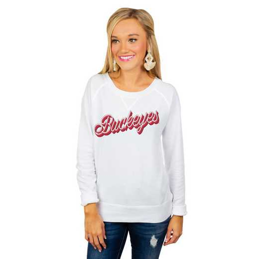 "Ohio State University Buckeyes ""Casually Cute"" French Terry Pullover By Gameday Couture"