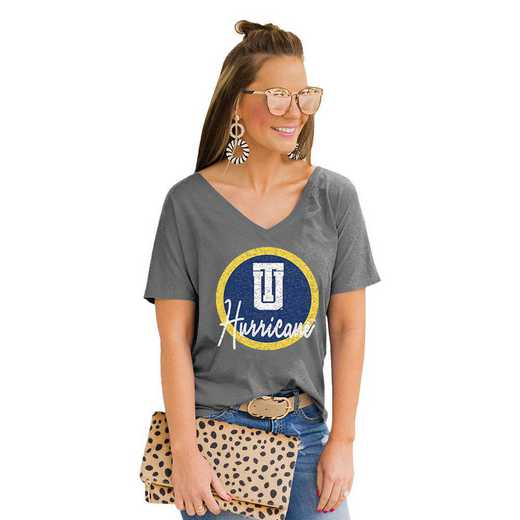 Tulsa Golden Hurricane Long Live Weekend Vibes V-Neck Tee by Gameday Couture