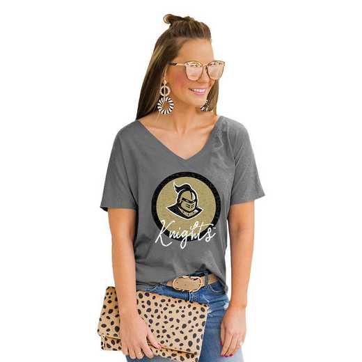 Central Florida Golden Knights Long Live Weekend Vibes V-Neck Tee by Gameday Couture