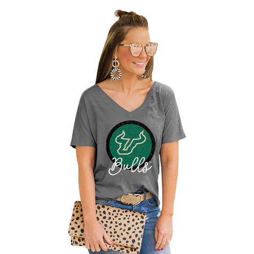 South Florida Bulls Long Live Weekend Vibes V-Neck Tee by Gameday Couture