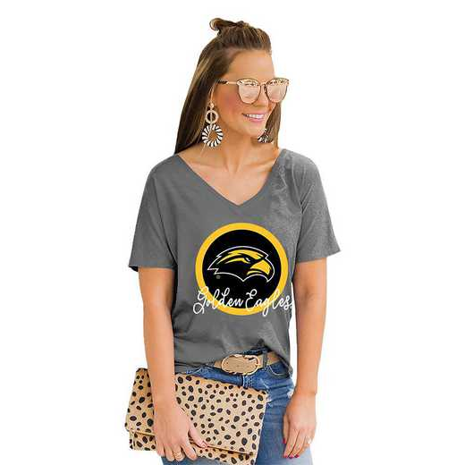 Southern Mississippi Golden Eagles Long Live Weekend Vibes V-Neck Tee by Gameday Couture