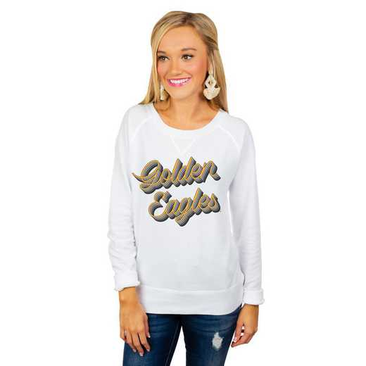 """Southern Mississippi Golden Eagles """"Casually Cute"""" French Terry Pullover By Gameday Couture"""