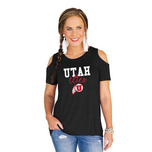 Utah Utes Forever a Fan Cold Shoulder Top by Gameday Couture