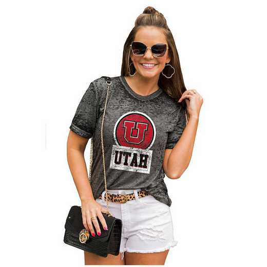 Utah Utes Let The Good Vibes Roll Tee by Gameday Couture