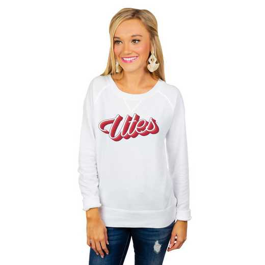 "Utah Utes ""Casually Cute"" French Terry Pullover By Gameday Couture"