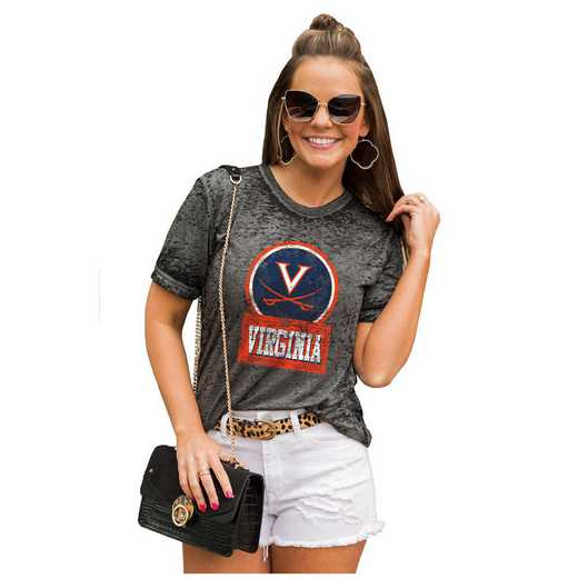 Virginia Cavaliers Let The Good Vibes Roll Tee by Gameday Couture