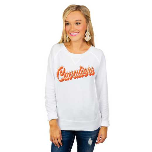 "Virginia Cavaliers ""Casually Cute"" French Terry Pullover By Gameday Couture"
