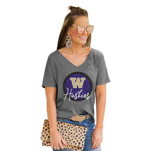 Washington Huskies Long Live Weekend Vibes V-Neck Tee by Gameday Couture