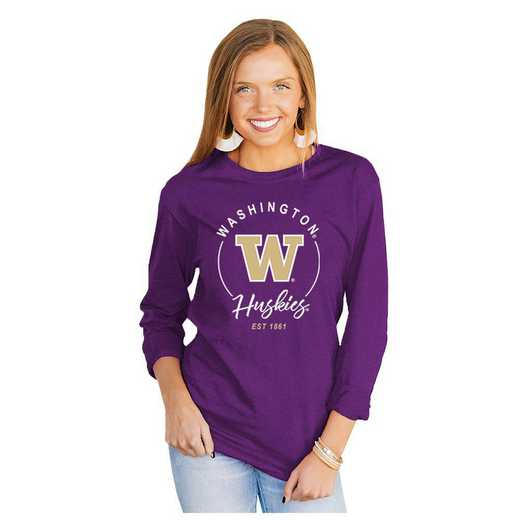 Washington Huskies It's Gameday Y'all Varsity Crew Top by Gameday Couture