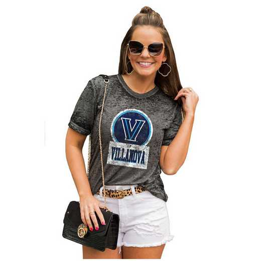 Villanova Wildcats Let The Good Vibes Roll Tee by Gameday Couture