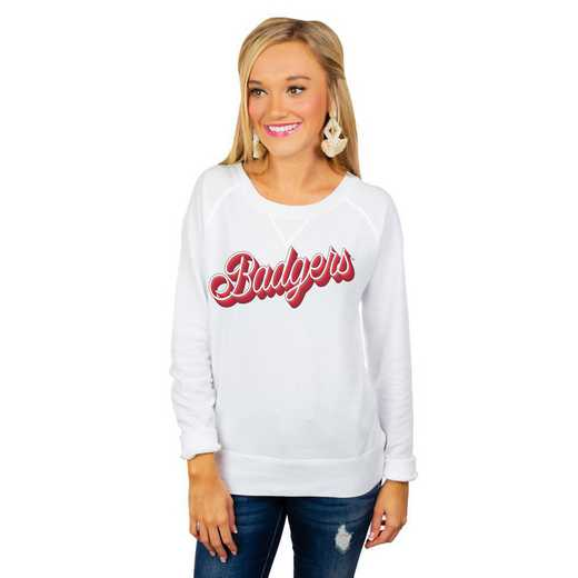 "Wisconsin Badgers ""Casually Cute"" French Terry Pullover By Gameday Couture"